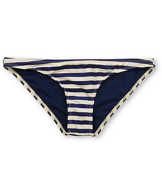 Volcom Vintage Find Navy Stripe Bikini Bottom