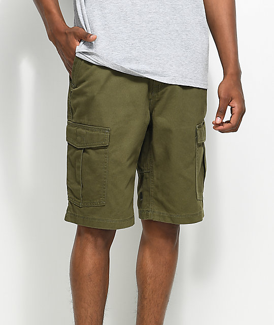 Volcom Vmight Olive Cargo Shorts