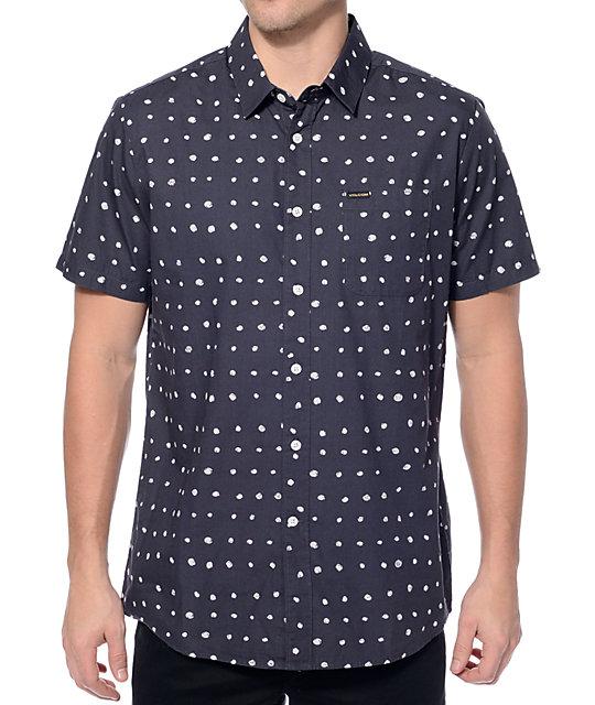 Volcom Volka Dot Charcoal Button Up Shirt
