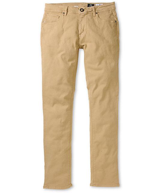 Volcom Vorta Khaki Slim Fit Jeans