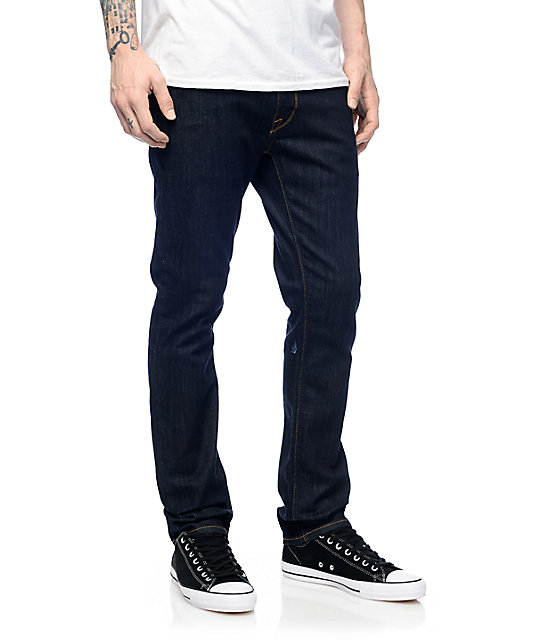 Volcom Vorta RNS Blue Rinse Slim Fit Jeans