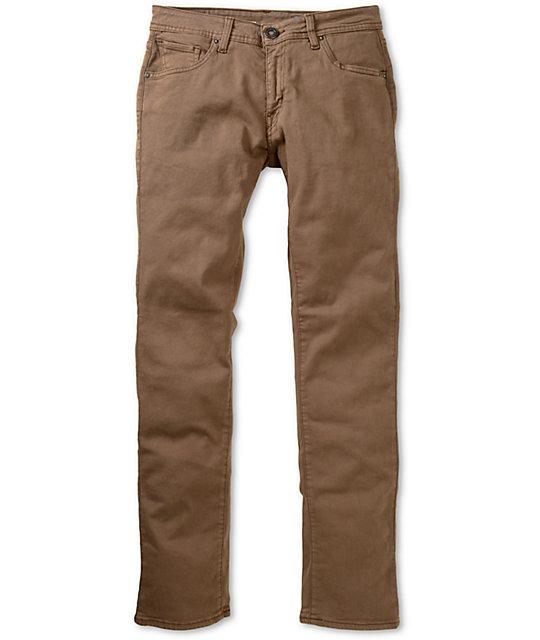 Volcom Vorta Stretch Brown Slim Fit Jeans