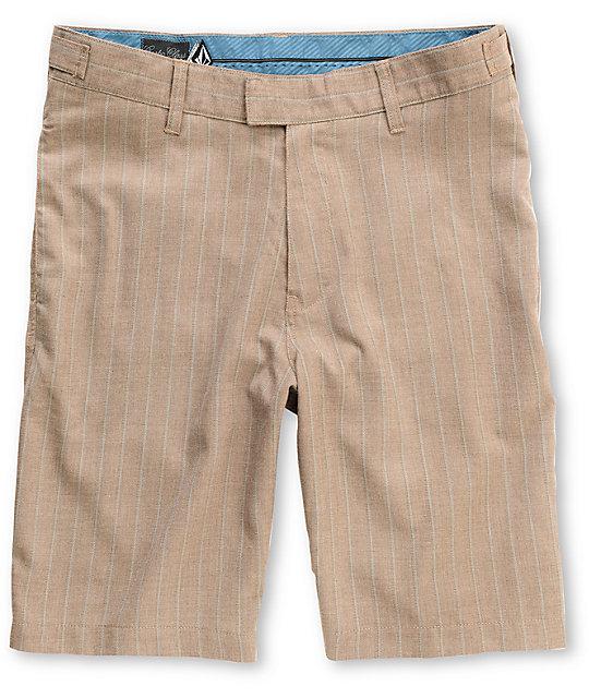 Volcom Walford Chocolate Stripe Shorts