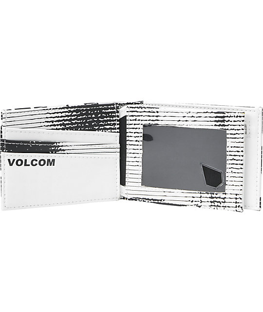 Volcom Want More White Tri-Fold Wallet