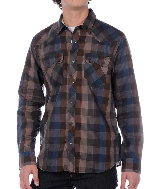 Volcom Washback Navy Woven Shirt
