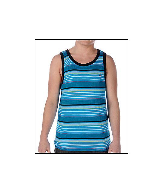 Volcom Wester Blue Stripe Tank Top