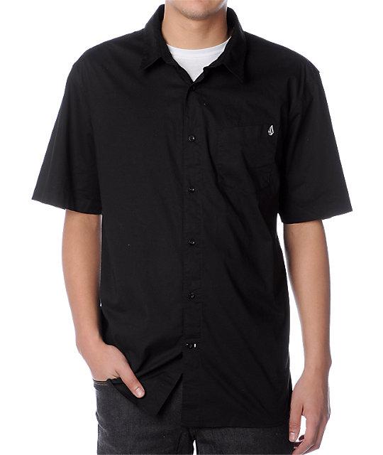 Volcom X-Factor Black Woven Shirt