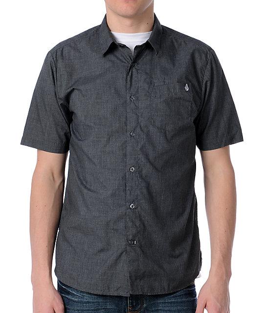 Volcom X-Factor Heather Black Short Sleeve Shirt