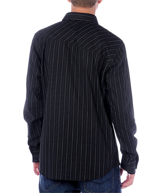 Volcom Y Factor Stripe Long Sleeve Woven Shirt