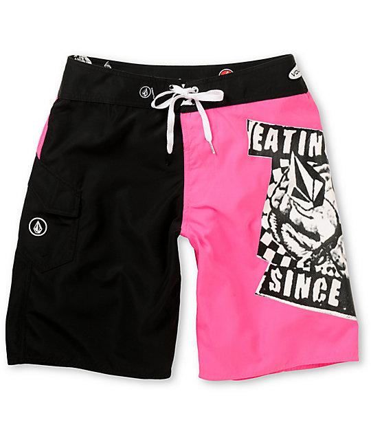 Volcom Yae Neon Pink 21 Board Shorts