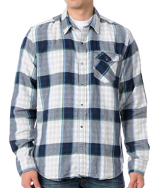 Volcom Zander Navy Plaid Woven Shirt