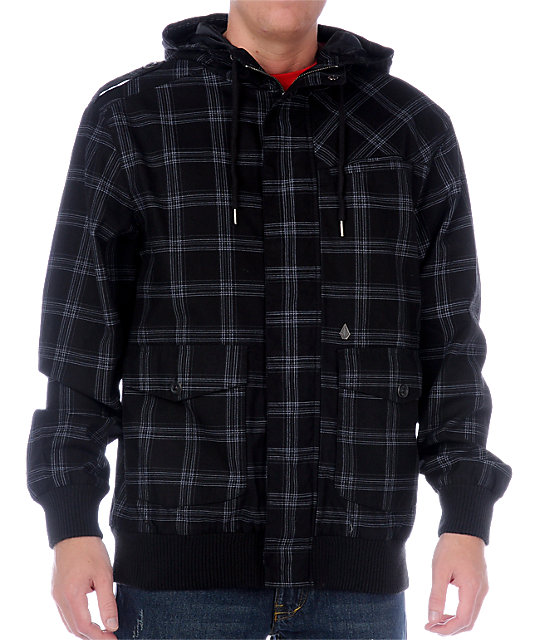 Volcom Zoggler Black Plaid Jacket