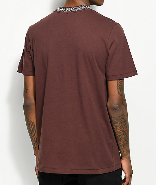 Volcom x Kyle Walker Plum Knit Crew Neck T-Shirt