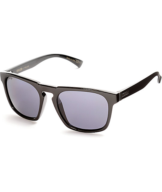 Von Zipper Banner Black Gloss & Grey Polarized Sunglasses