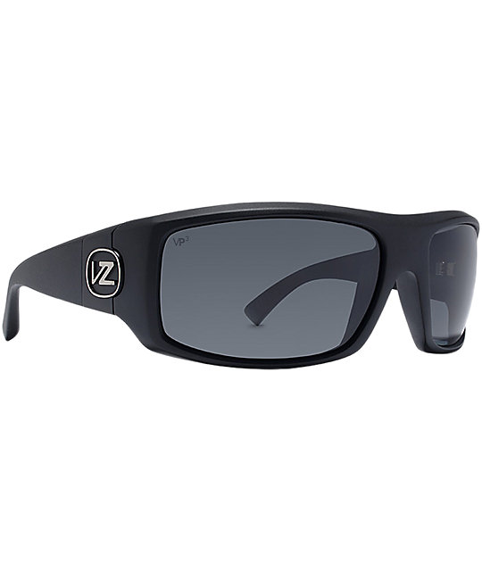 Von Zipper Clutch Black Satin VP3 Polarized Sunglasses