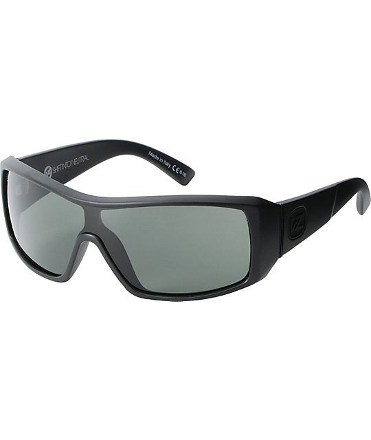 Von Zipper Comsat Black Satin & Grey Sunglasses