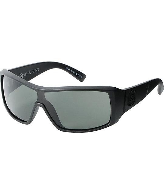 Von Zipper Comsat Black Satin & Grey Sunglasses