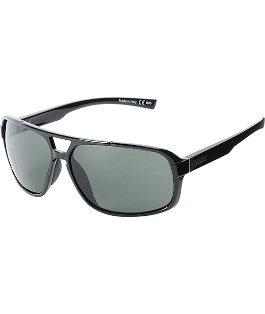 Von Zipper Decco Black Gloss & Grey Sunglasses