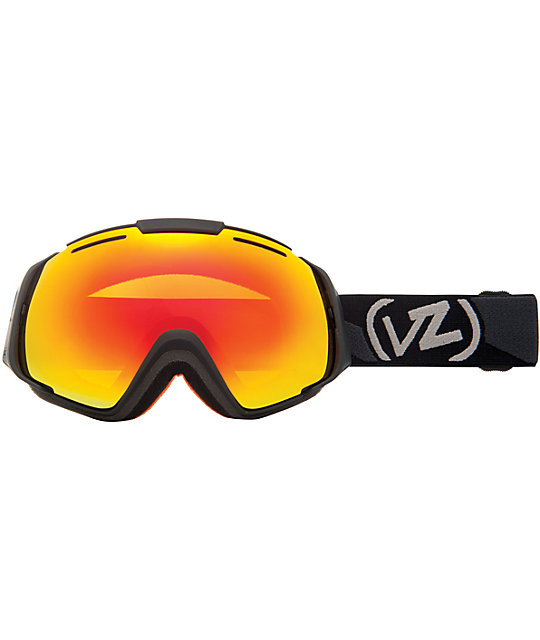 Von Zipper El Kabong Black & Fire Chrome Snowboard Goggle