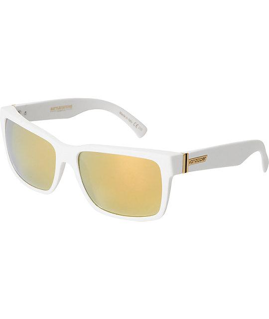Von Zipper Elmore Battlestations White & Gold Chrome Sunglasses