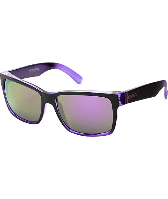 Von Zipper Elmore Frostbyte Black &  Purple Pow Pow Sunglasses