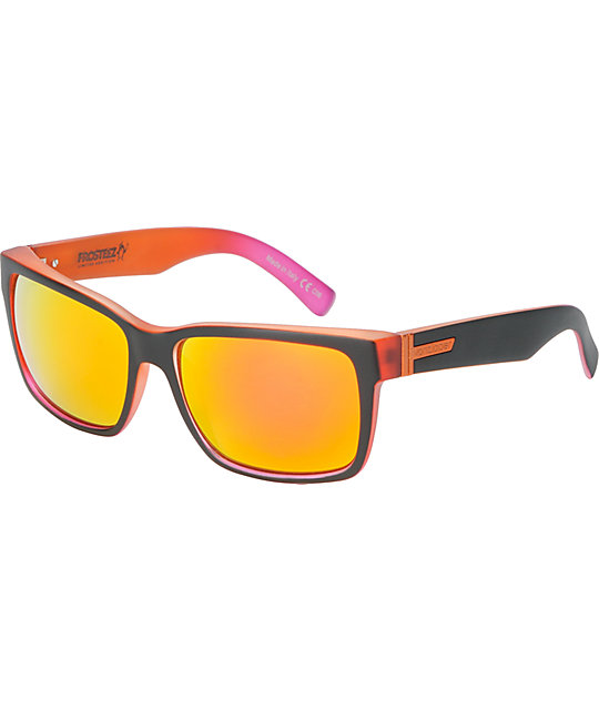 Von Zipper Elmore Frosteez Matte Orange Sunglasses
