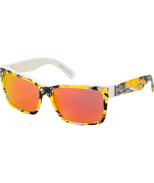 Von Zipper Elmore Gnarwaiian Yellow & Lunar Glo Sunglasses