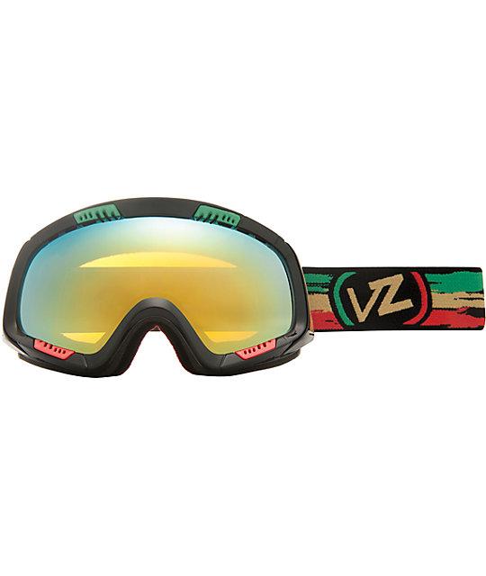 Von Zipper Feenom Black & Rasta Snowboard Goggles