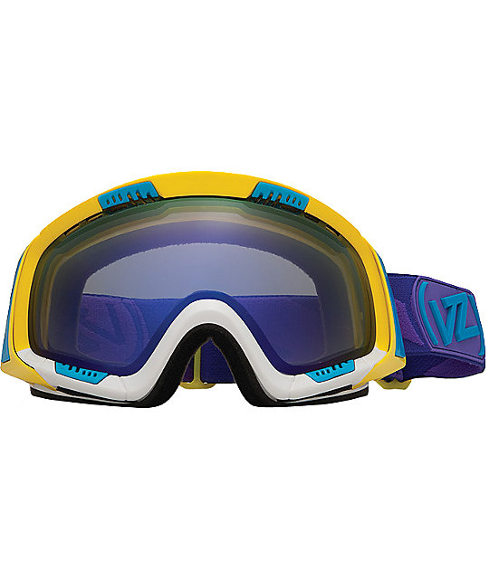 Von Zipper Feenom Color Blok Yellow Snowboard Goggles