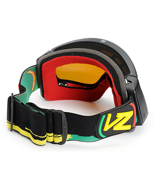 Von Zipper Feenom Rasta Vibrations & Gold Snow Goggles