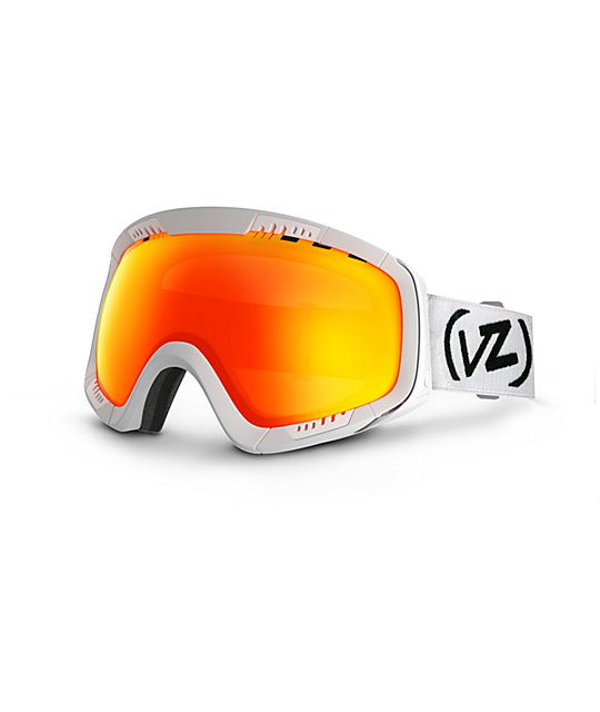 Von Zipper Feenom White Satin & Fire Chrome Snow Goggles