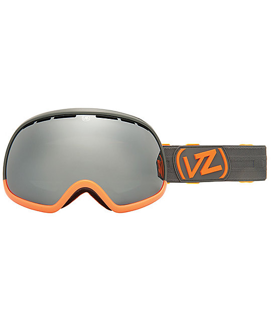 Von Zipper Fishbowl Color Blok Orange & Black Chrome Goggle