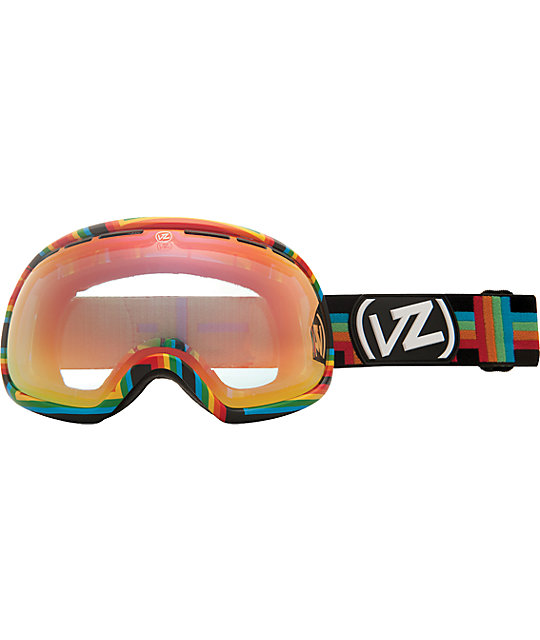 Von Zipper Fishbowl Double Rainbow & Fire Chrome Goggles