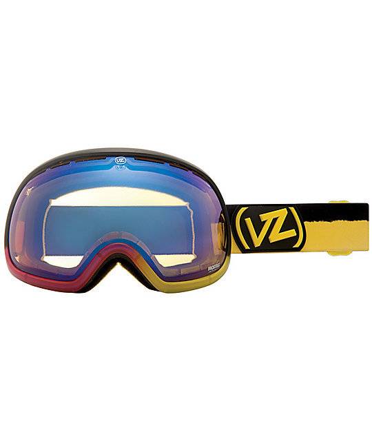 Von Zipper Fishbowl Frosteez Passion Pop & Yellow Chrome Goggle