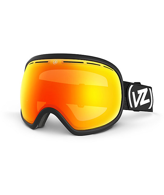 Von Zipper Fishbowl Satin Black & Fire Chrome Snow Goggles