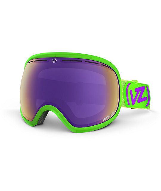 Von Zipper Fishbowl Spaceglaze Lime & Purple Snow Goggles