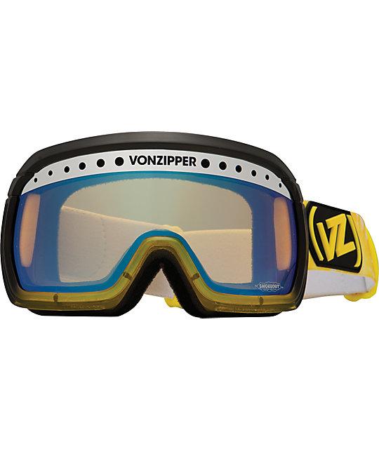 Von Zipper Fubar Smokeout Banana Bake Snowboard Goggles