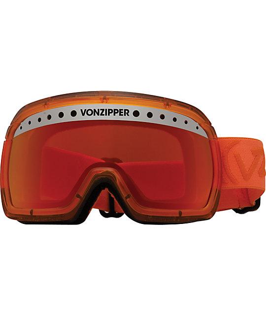 Von Zipper Fubar Tangerine Snowboard Goggles