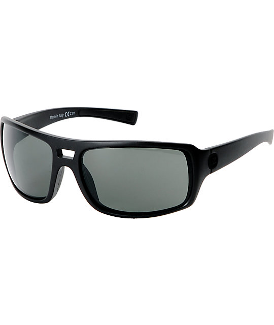 Von Zipper Hammerlock Black Satin & Grey Sunglasses