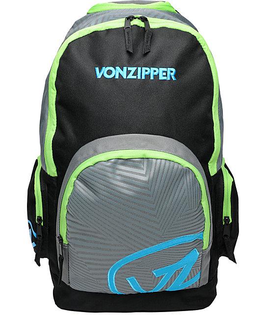 Von Zipper Impression Charcoal & Cyan Backpack