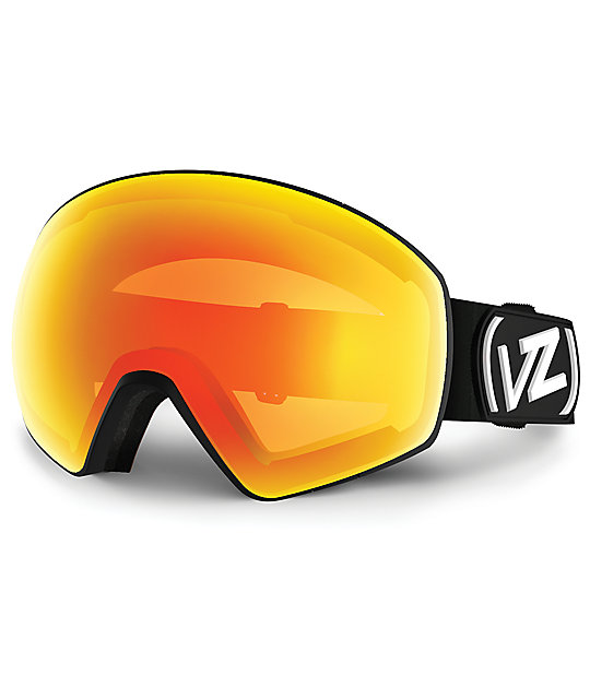 snowboard goggles  Von Zipper Jetpack Black Satin \u0026 Fire Chrome Snowboard Goggles at ...