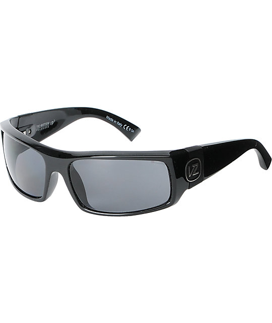 Von Zipper Kickstand Black Polarized Sunglasses