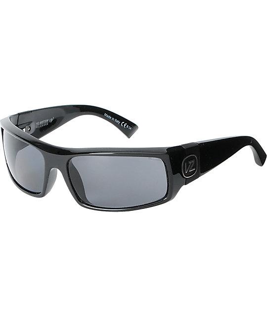 Von Zipper Kickstand Black Polarized Sunglasses