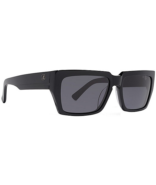 Von Zipper Mustafa Black Gloss & Grey Stripe Sunglasses