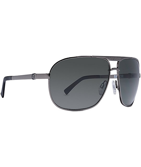 Von Zipper Skitch Charcoal Gloss Sunglasses