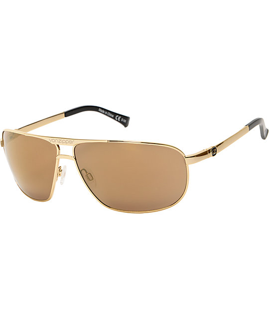 Von Zipper Skitch Glam Gold Chrome Sunglasses