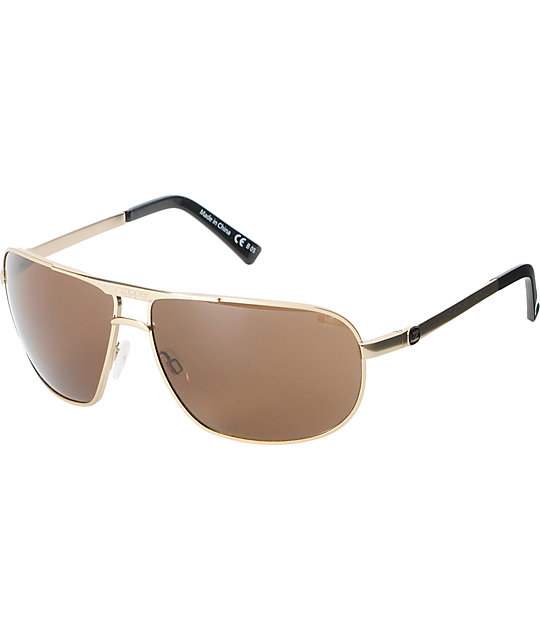 Von Zipper Skitch Gold Satin Sunglasses