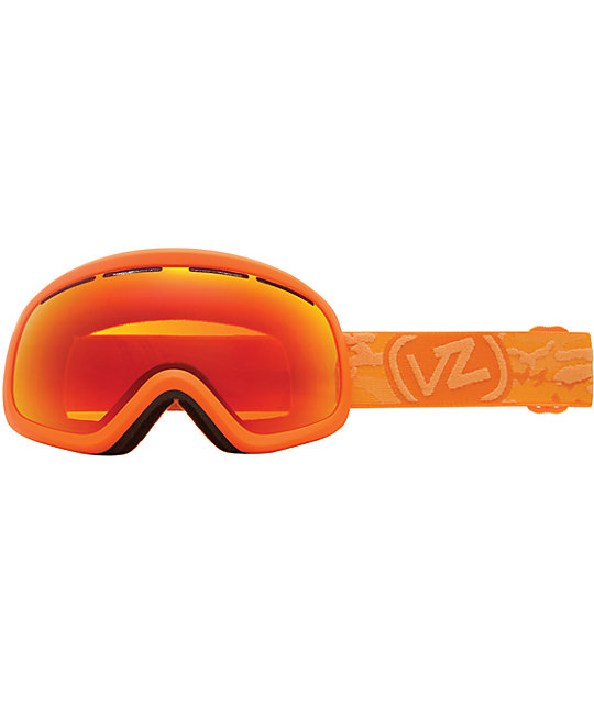 Von Zipper Skylab Orange & Fire Chrome Snowboard Goggles