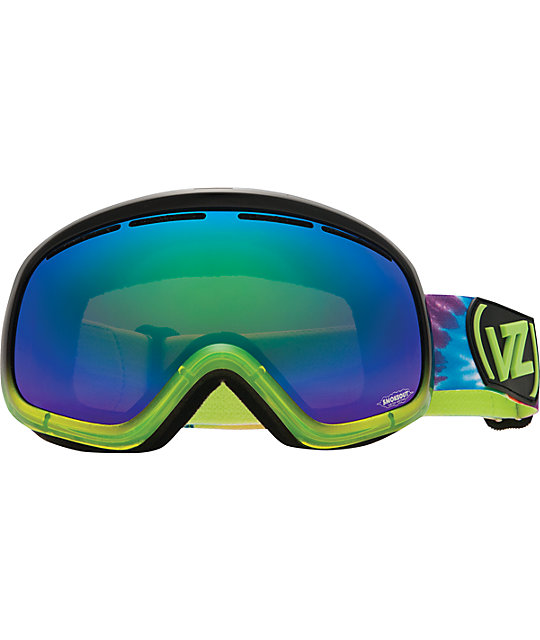 Von Zipper Skylab Smokeout Lights Out Lime Snowboard Goggles