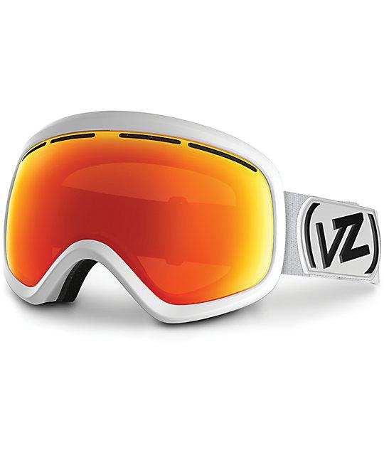 goggles snowboard  Von Zipper Skylab White Satin \u0026 Fire Chrome Snowboard Goggles at ...